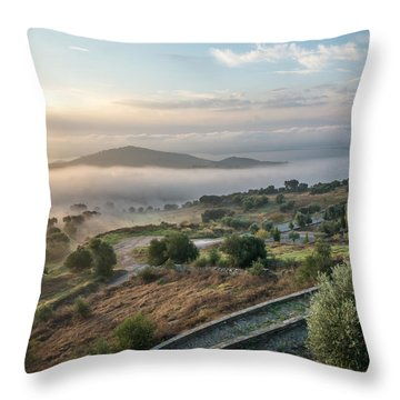 Dreamy Landscape Throw Pillow