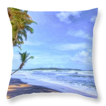 Dreamy Manzanilla Throw Pillow