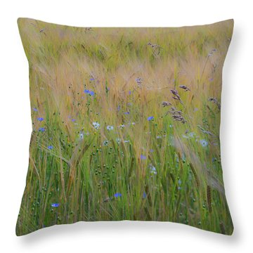Dreamy Meadow Throw Pillow