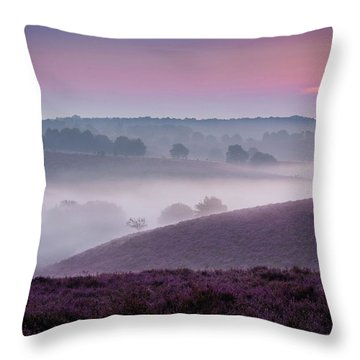 Dreamy Morning Throw Pillow