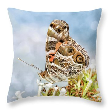 Dreamy Painted Lady Throw Pillow