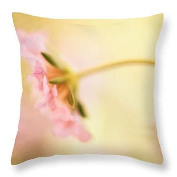 Throw Pillow featuring the photograph Dreamy Pink Flower by Bonnie Bruno