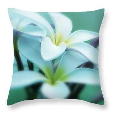 Dreamy Plumeria Art Print Throw Pillow