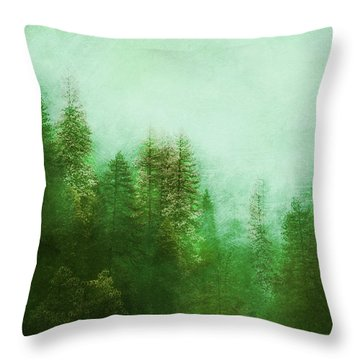 Throw Pillow featuring the digital art Dreamy Spring Forest by Klara Acel
