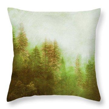 Throw Pillow featuring the digital art Dreamy Summer Forest by Klara Acel