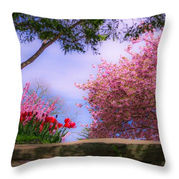 Dreamy Tulip Respite Throw Pillow