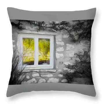 Dreamy Window Throw Pillow