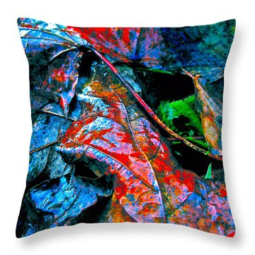 Drenched In Color Throw Pillow by Gwyn Newcombe