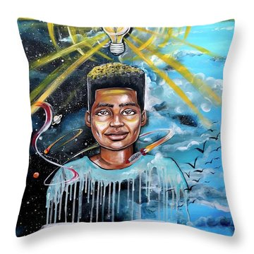 Drenched In Knowledge Throw Pillow