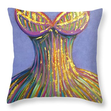 Dress For Cinderella Throw Pillow by Beryllium Canvas