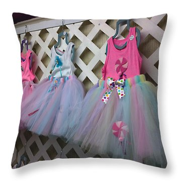Throw Pillow featuring the digital art Dress For Three by Steve Sperry