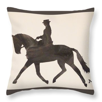 Dressage At Downton Throw Pillow