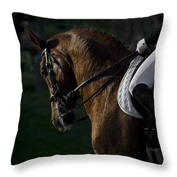 Throw Pillow featuring the photograph Dressage D5284 by Wes and Dotty Weber