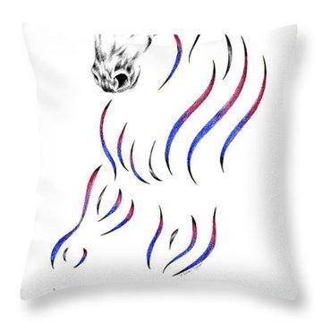 Dressage Horse Dancer Print Throw Pillow