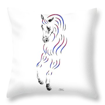 Dressage Horse Dancer Print Throw Pillow