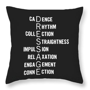 Dressage Pyramid Defined Throw Pillow