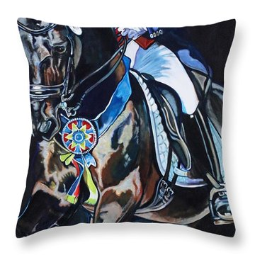 Dressage Stallion Throw Pillow