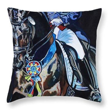 Dressage Stallion Throw Pillow