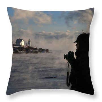 Dressed For Sea Smoke Throw Pillow