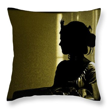 Dressed For The Corrida Goyesca Throw Pillow by Mal Bray