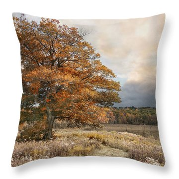 Dressed In Autumn Throw Pillow