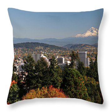 Dressed In Fall Colors Throw Pillow