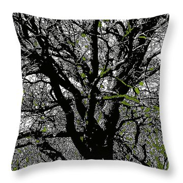 Dressed In Green Throw Pillow