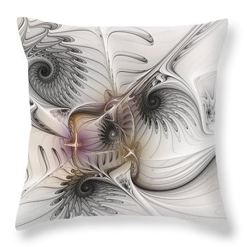 Throw Pillow featuring the digital art Dressed In Silk And Satin by Karin Kuhlmann