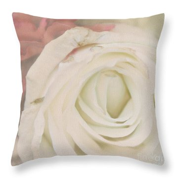 Dressed In White Satin Throw Pillow