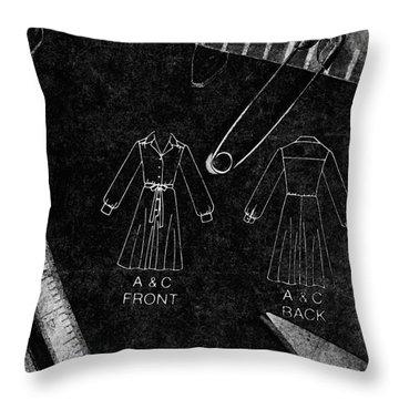 Dressmaking Handiwork Throw Pillow