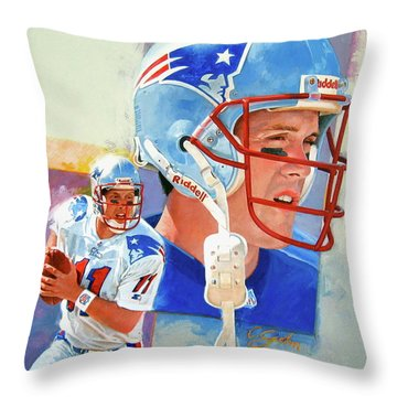 Drew Bledsoe Throw Pillow
