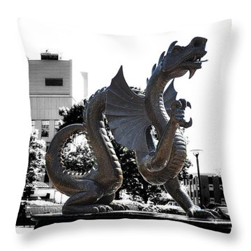 Drexel Dragon Throw Pillow by Bill Cannon