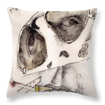 Dr.gonzo As Hunter S. Thompson Throw Pillow