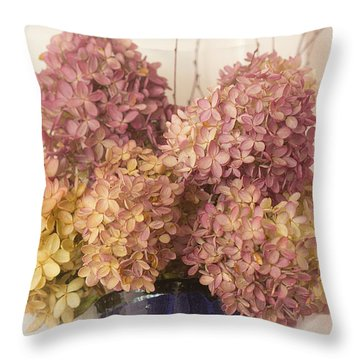 Throw Pillow featuring the photograph Dried Hydrangea by Michael Friedman
