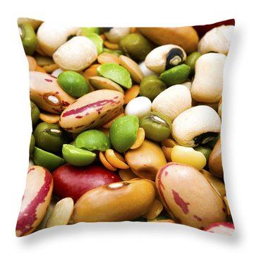 Dried Legumes And Cereals Throw Pillow