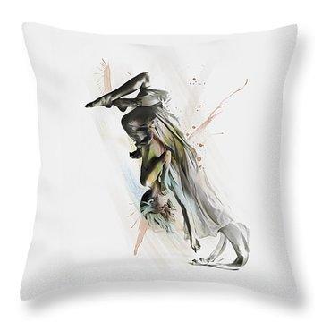 Drift Contemporary Dance Two Throw Pillow