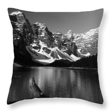 Drift Wod On Lake Moraine Throw Pillow