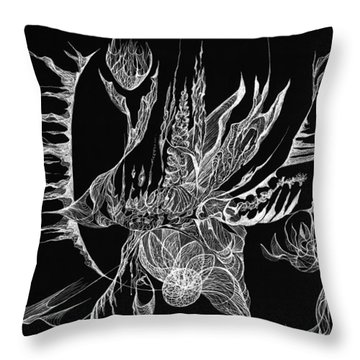 Drifted Throw Pillow