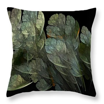 Throw Pillow featuring the digital art Drifters by Richard Ortolano