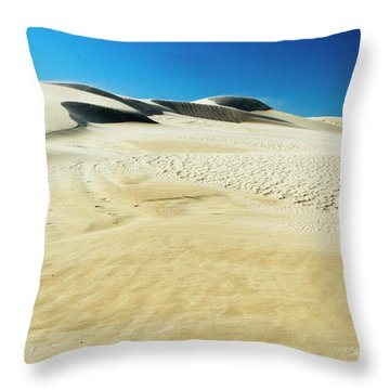 Throw Pillow featuring the photograph Drifting Away by Angela DeFrias