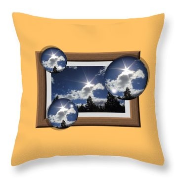 Throw Pillow featuring the photograph Drifting Away by Shane Bechler