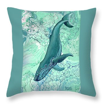 Throw Pillow featuring the painting Drifting Into Blue by Darice Machel McGuire
