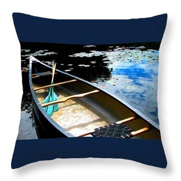 Drifting Into Summer Throw Pillow by Angela Davies