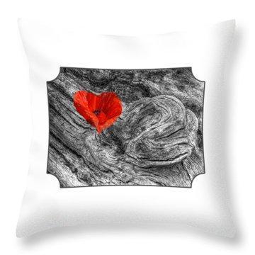 Drifting - Love Merging Throw Pillow by Gill Billington