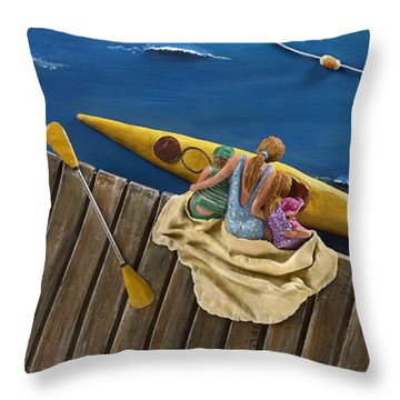 Drifting Off Throw Pillow by Anne Klar
