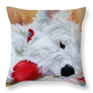 Drifting Off Throw Pillow by Mary Sparrow