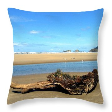 Driftwood Garden Throw Pillow by Will Borden