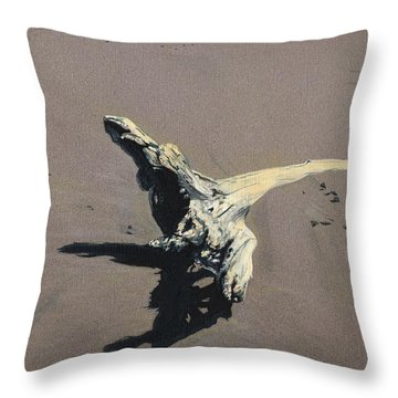 Coastal Driftwood Throw Pillow