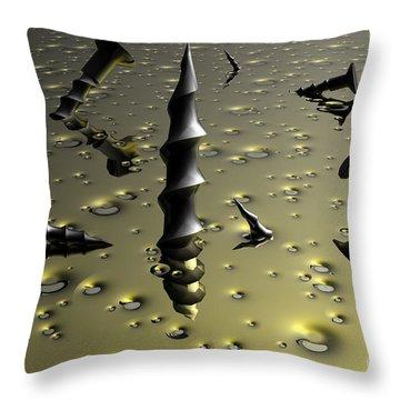 Drill Baby Drill Throw Pillow by Robert Orinski