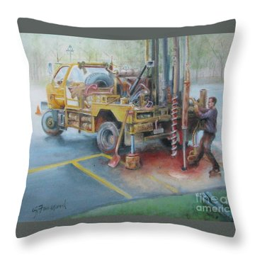 Drill,drill,drill Throw Pillow